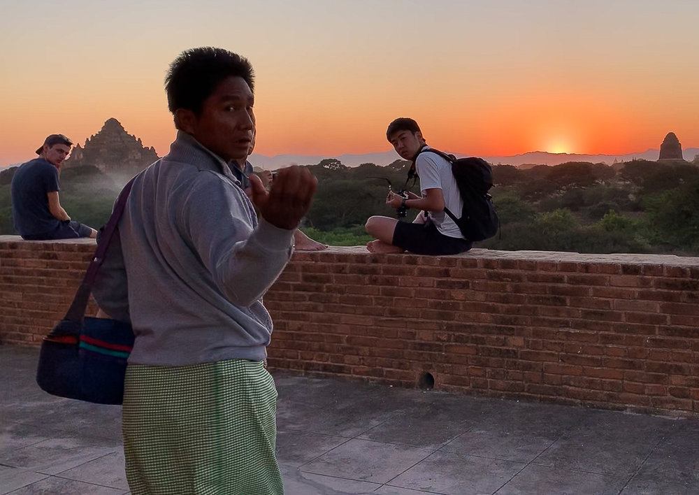 The sun set in Bagan at this secret location