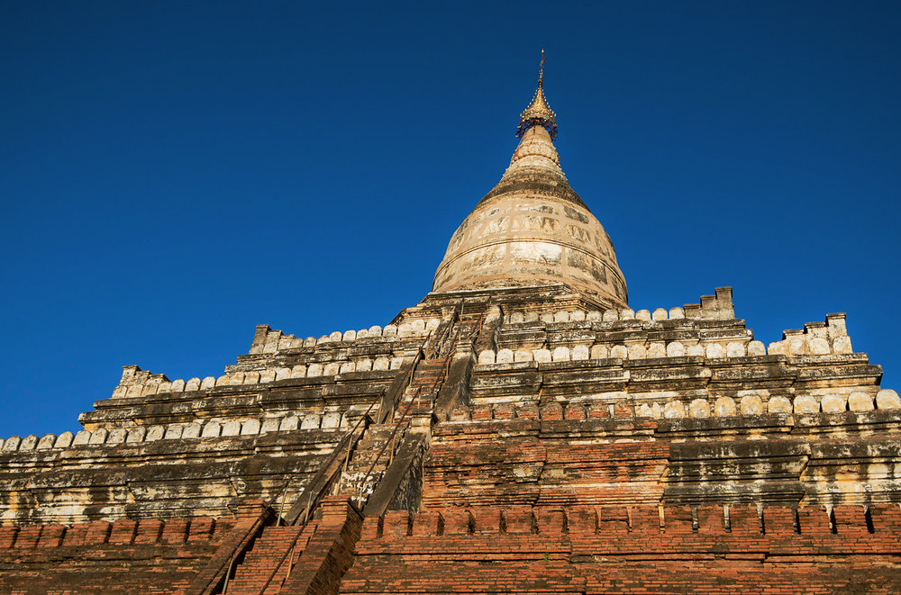 Shwesandaw Pagoda has 5 stepped terraces. It used to be a favourite sunset viewing spot, but no longer.