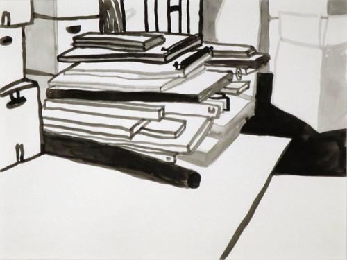 Uit de serie  Eerst was er niets  inkt 24 x 32 cm, 2014