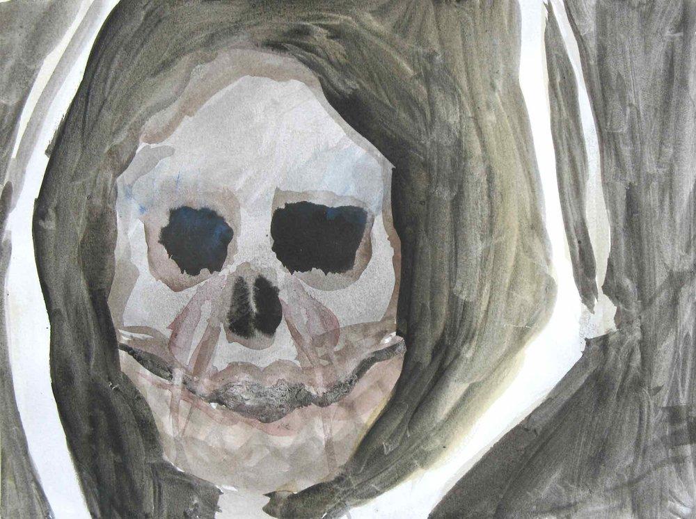 Positief denken (Positive thinking)  aquarel, inkt 24 x 34 cm, 2007