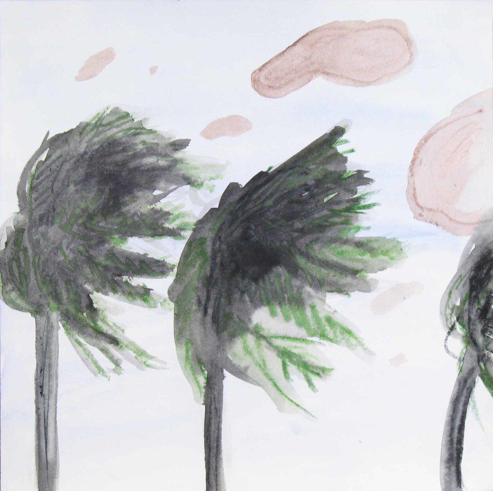 Uit de serie  Problemen (Problems)  aquarel, inkt 25 x 25 cm, 2007-2008