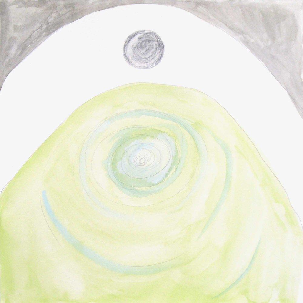 Uit de serie  Problemen (Problems)  aquarel 25 x 25 cm, 2007-2008