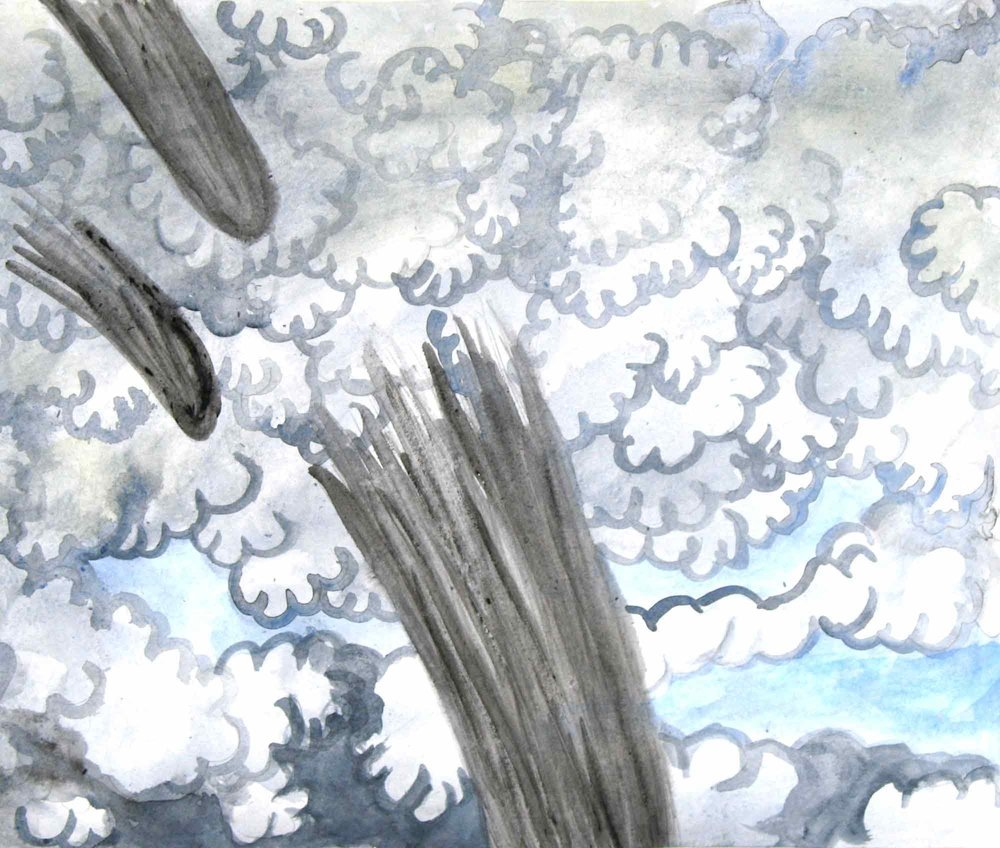 Uit de serie  Zo gaan dingen (That's the way the cookie crumbles)  gouache, aquarel 29 x 35 cm, 2007-2009
