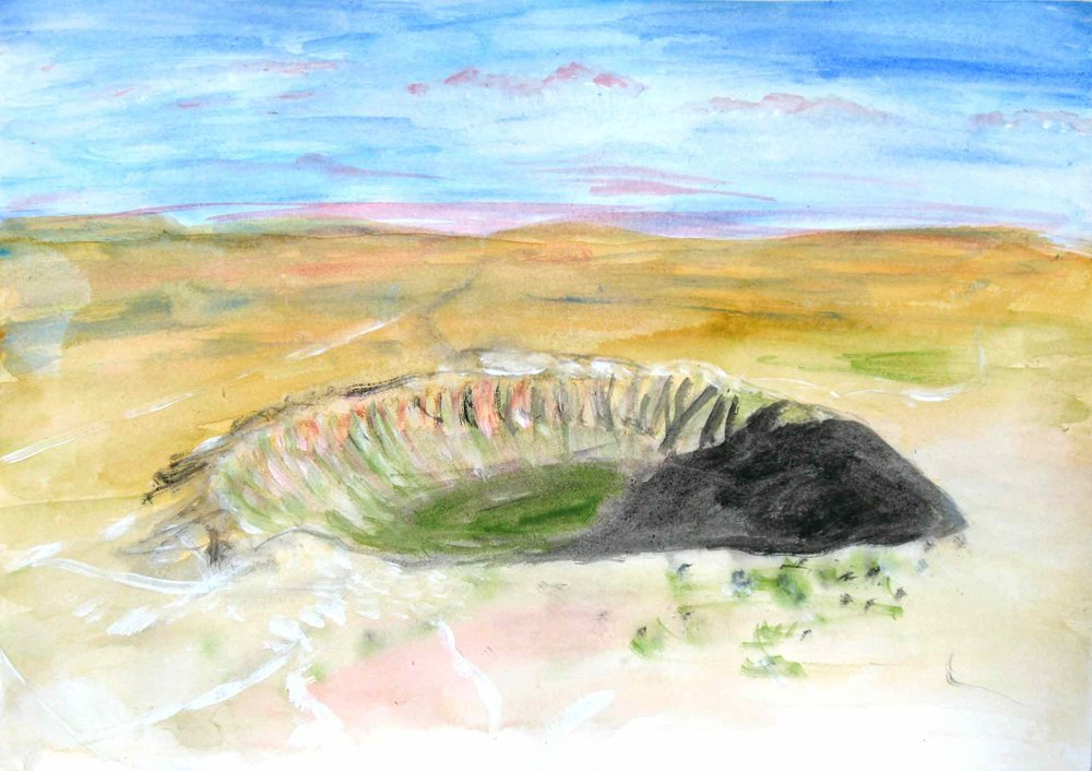 Uit de serie  Zo gaan dingen (That's the way the cookie crumbles)  gouache, aquarel 29 x 42 cm, 2007-2009, privécollectie