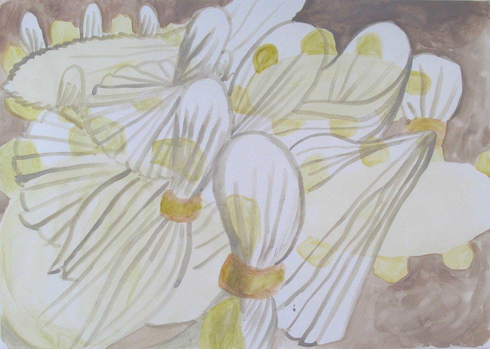 Iedereen moet iemand zijn (Everybody has to be somebody)  gouache 30 x 42 cm, 2011, privécollectie