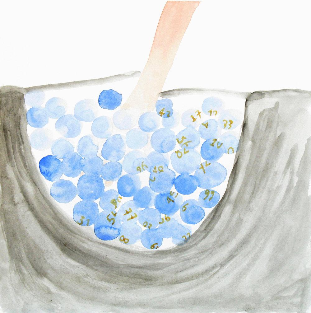Uit de serie  Gas, water en licht (Gas, water and light)  aquarel 25 x 25 cm, 2008