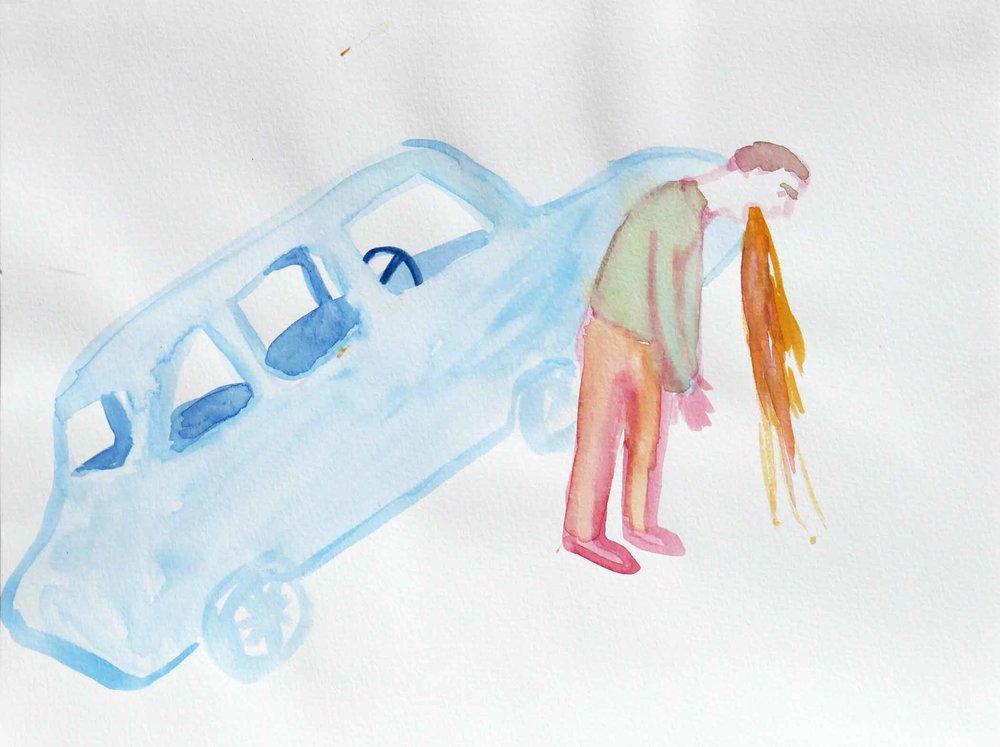 Uit de serie  The Loveboat  aquarel 24 x 32 cm, 2007-2009
