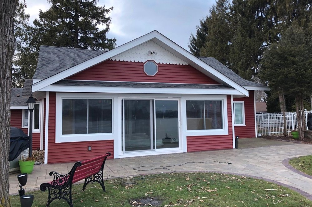 """""""RRI assisted me with my insurance claim to make sure I received everything that I was entitled to for the storm damage. I had a new roof and siding installed due to hail damage. They even found a color match for my siding. The crews were great. They were quick, clean, and efficient."""" - Bing Z - November 2018"""