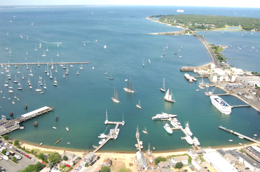 """Stop in Vineyard Haven harbor to see the Black Dog tall ships, or pop into """"the lagoon"""" under the drawbridge for a great flat water spot for watersports."""