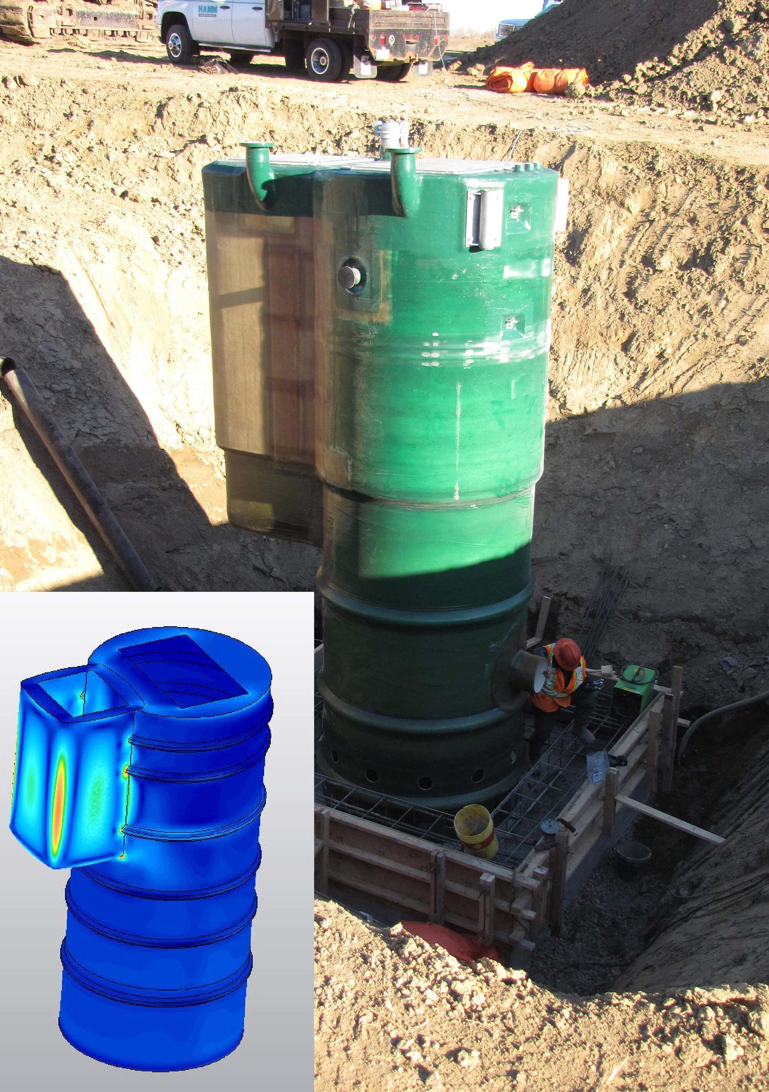 FRP Water Tank Structural Design - Barski Industries   March