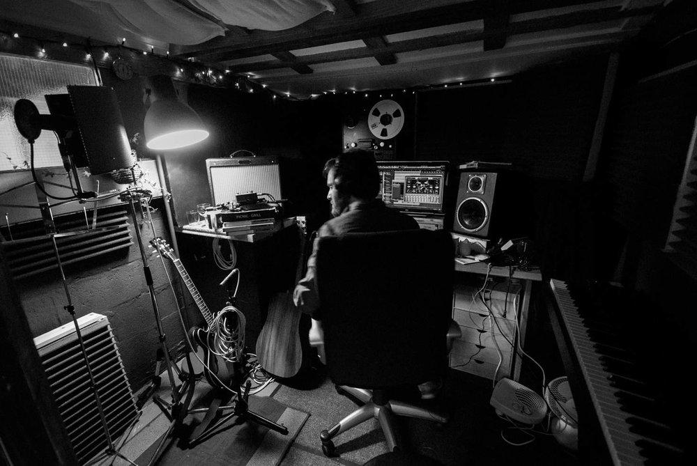 Duke Bradley in the Studio