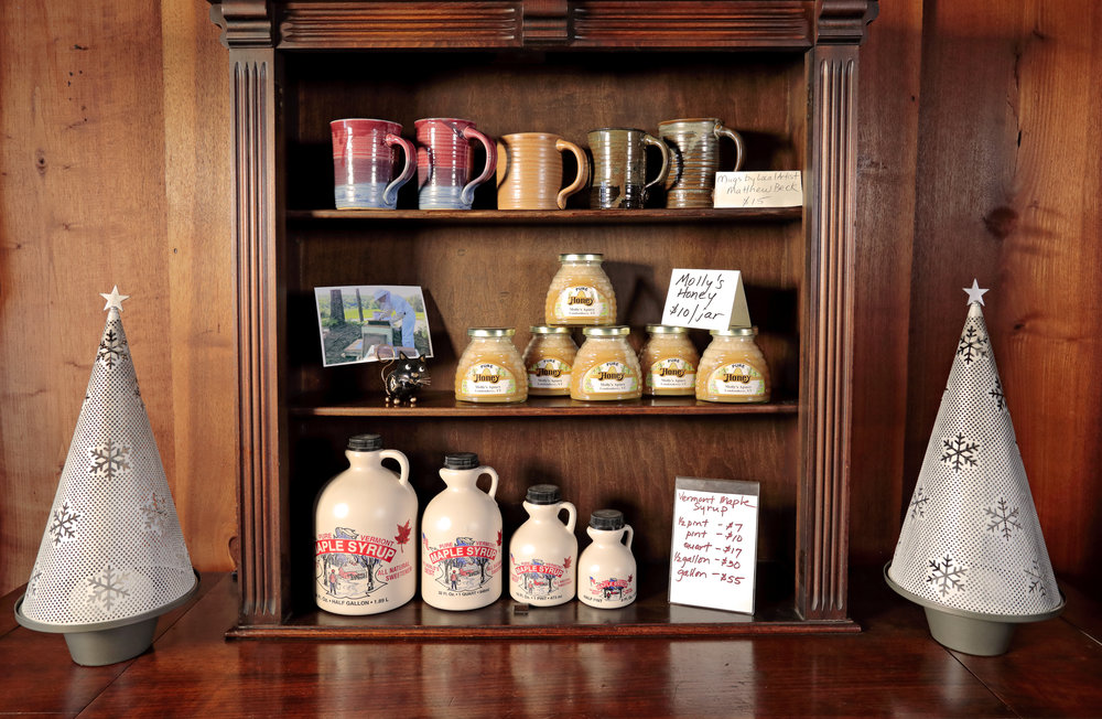 local products for sale - honey, syrup & pottery