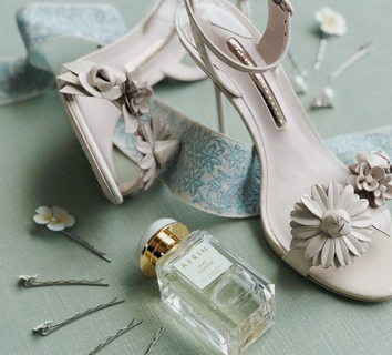 Davy Whitner Photography  // Sophia Webster Floral Shoes worn by Anna McClure
