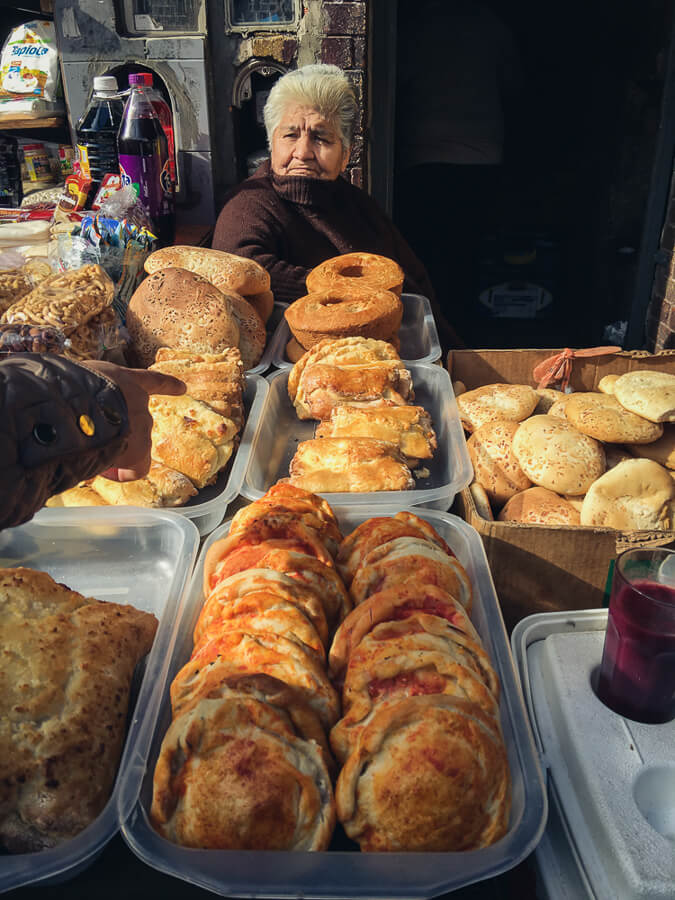 Street food in Buenos Aires Bolivian Market