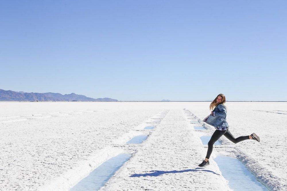 Salt Falts Salinas Grandes Argentina