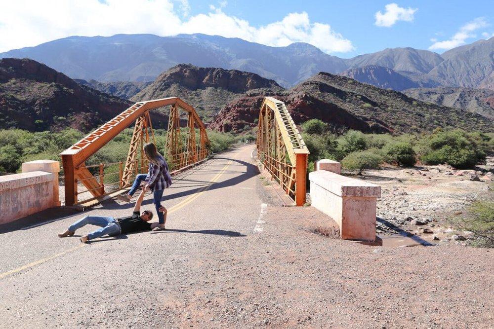 Bridge from Relatos Salvajes movie in Salta