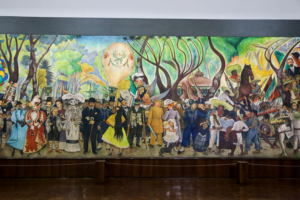 The mural in Diego Rivera's museum in Mexico City