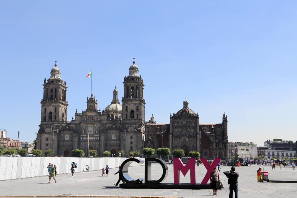 Zocalo main square in Mexico City