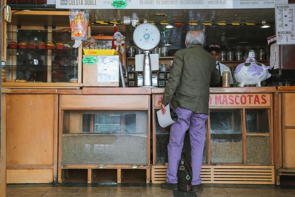Coffee Shop El Jarocho in Coyoacan, Mexico City