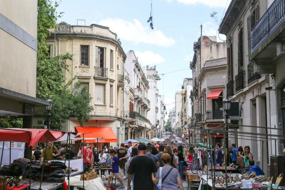 the San Telmo market in Buenos Aires