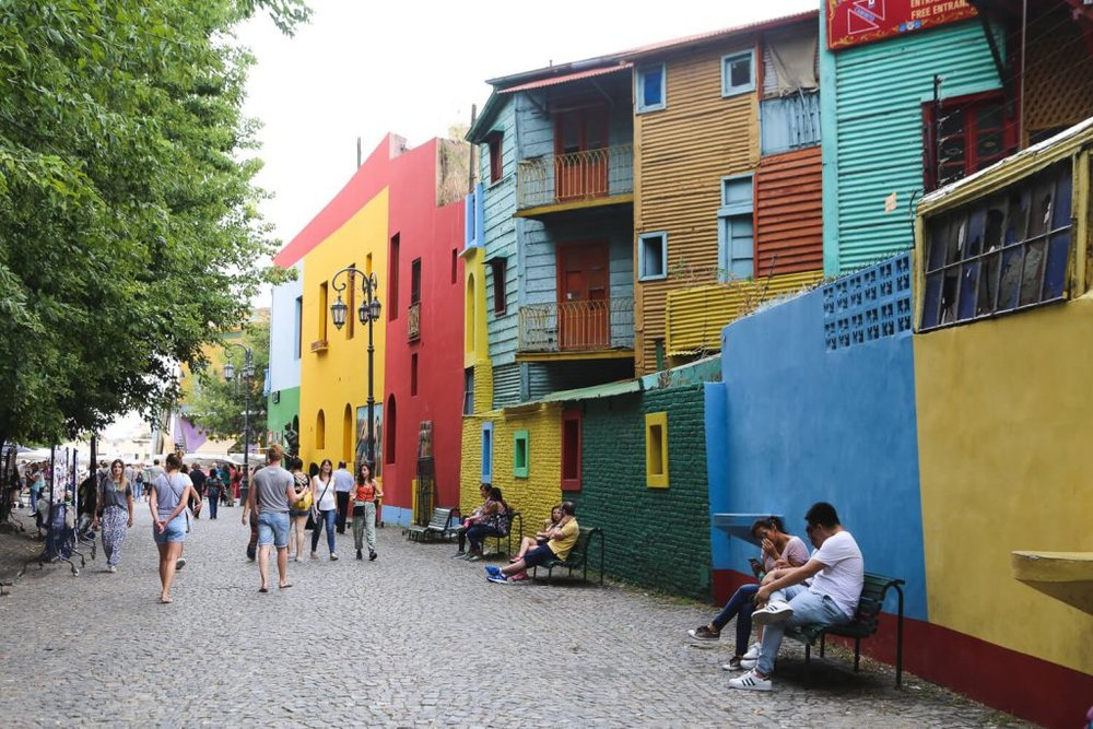 El Caminito in Buenos Aires La Boca
