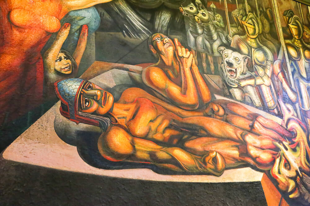 Siqueiros murals in Mexico CIty