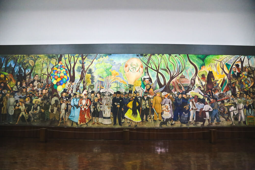 Mural in Diego Rivera's Museum in Mexico City