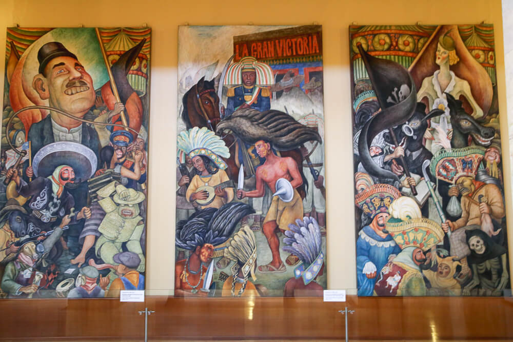 Where to see Diego Rivera Murals in Mexico City #DiegoRivera #MexicoCity