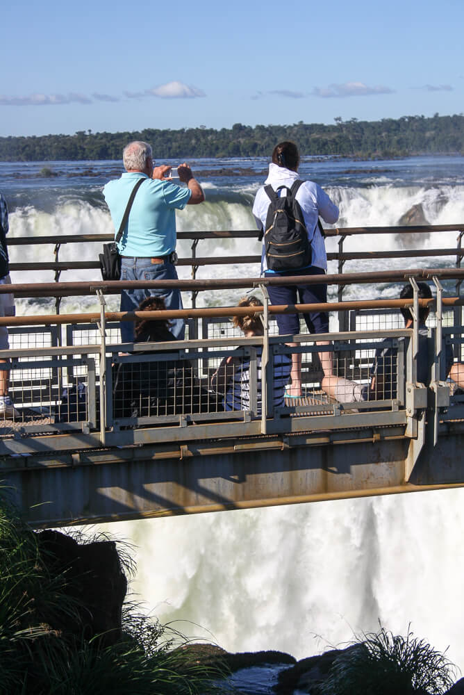 The platform over the Garganta del Diablo Waterfall Iguazu