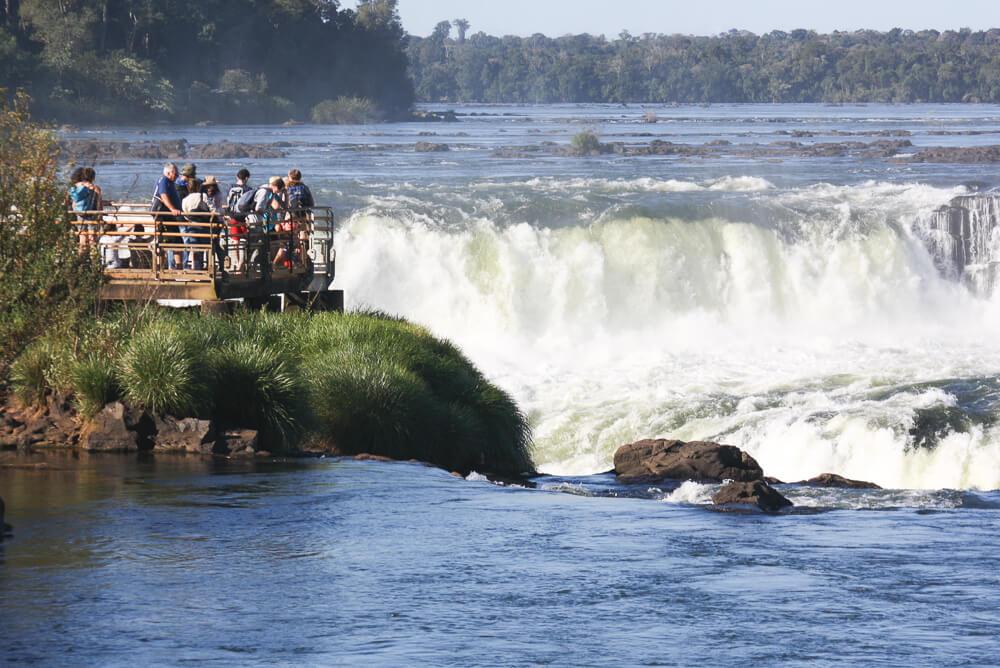 Garganta del Diablo waterfall in Iguazu in Argentina