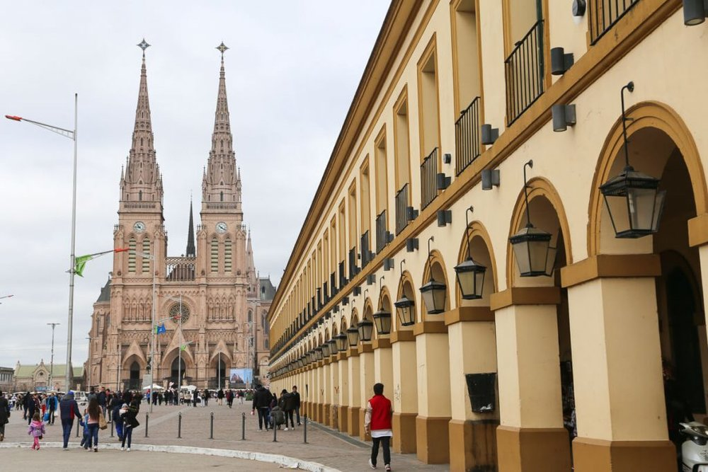The Basilica in Lujan on a day trip from Buenos Aires