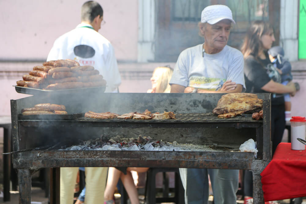 A traditional parilla grill in Buenos Aires