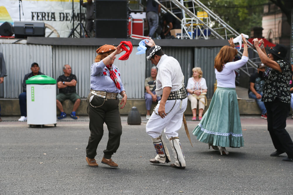 Traditional folk loric dancing in Buenos Aires