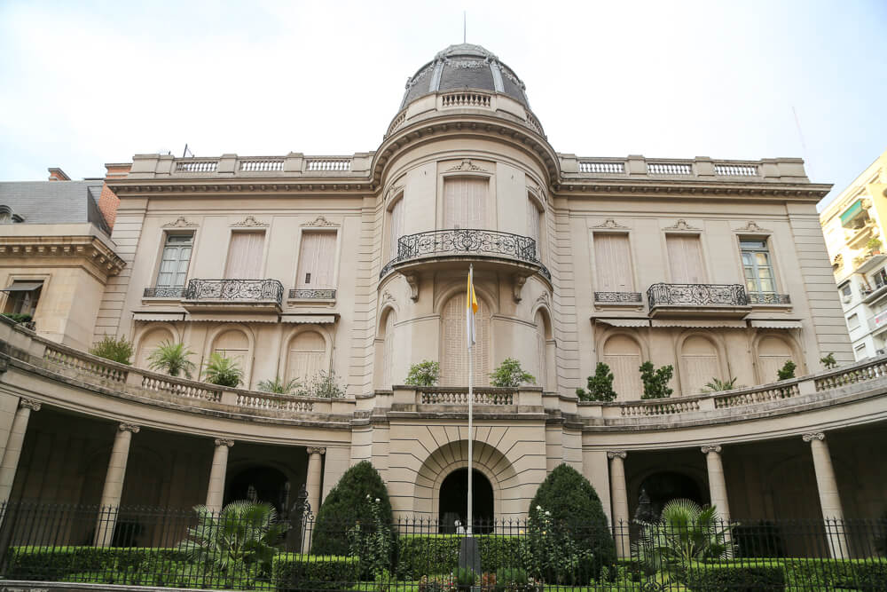 Historical mansion in Recoleta in Buenos Aires