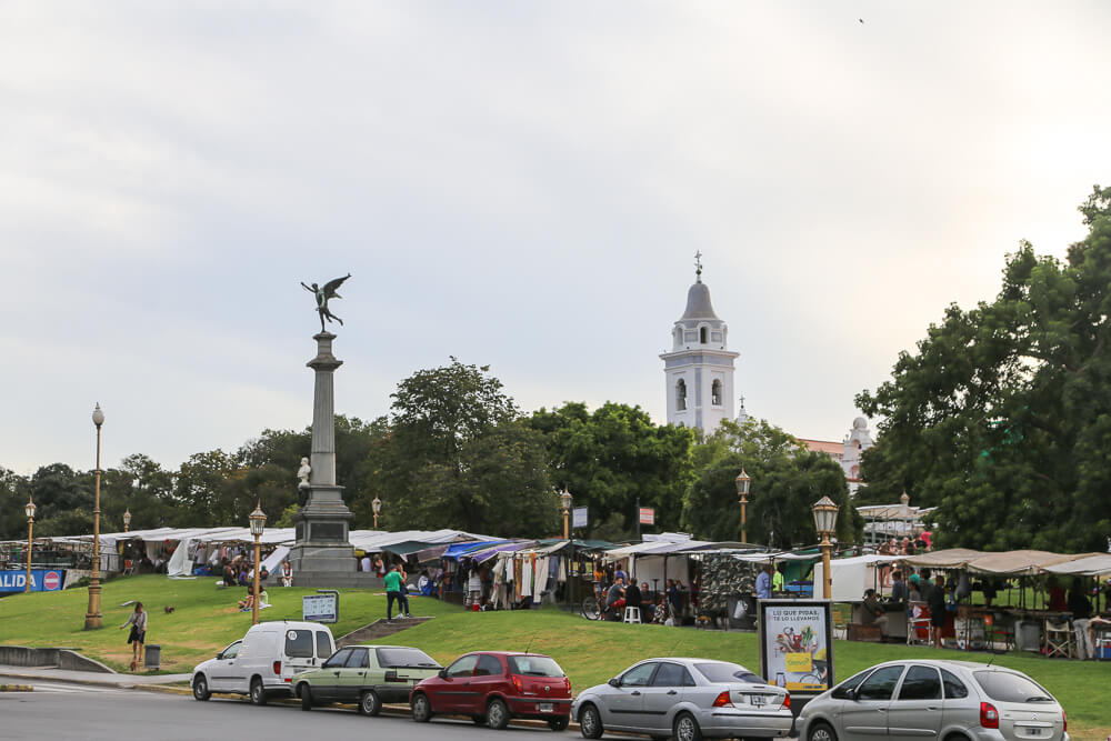 The weekly market in Recoleta Plaza Francia