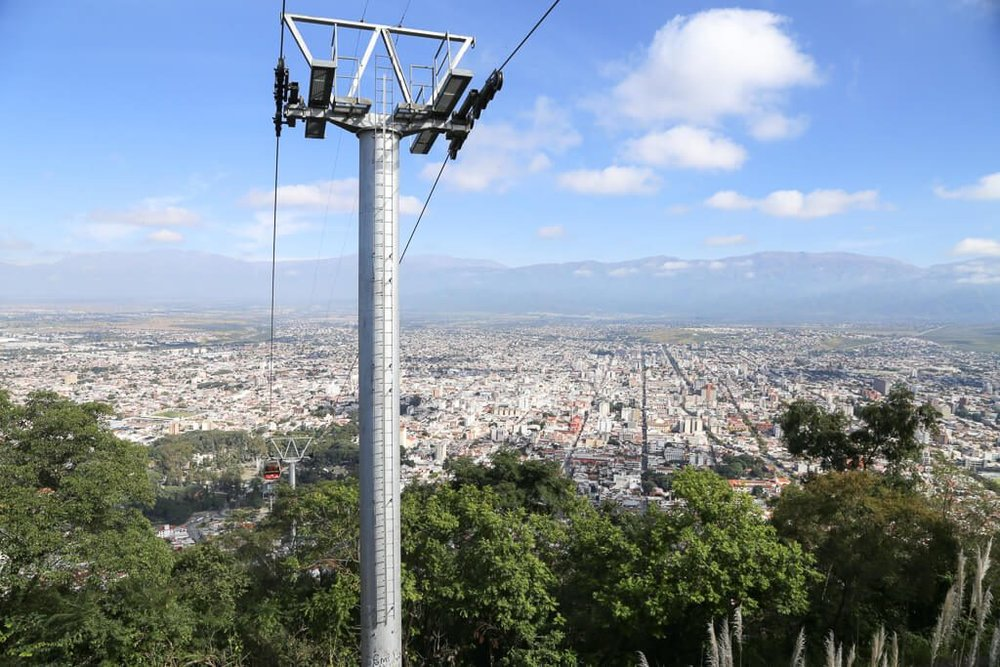 Panoramic view of Salta