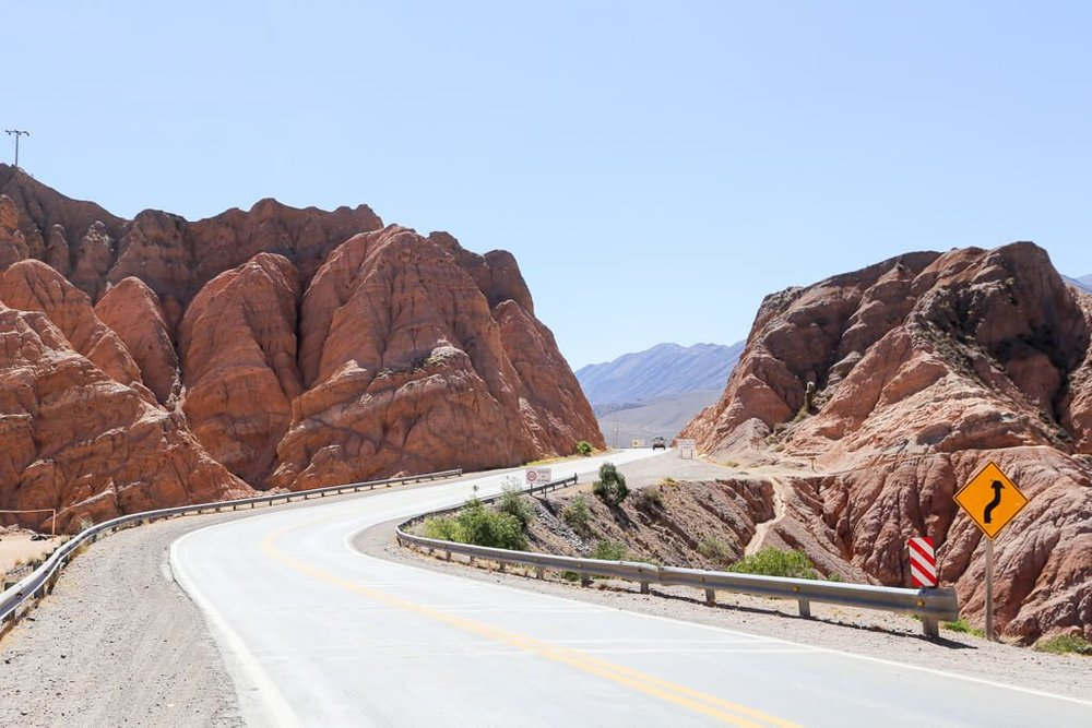 Driving from Tilcara to Purmamarca in Jujuy