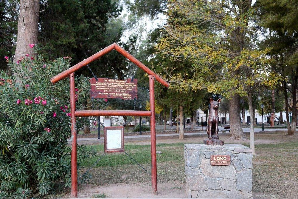 Lobo statue in San Carlos near Cafayate Salta