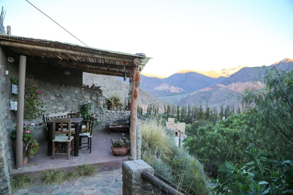 View from our Airbnb apartment in Tilcara Jujuy