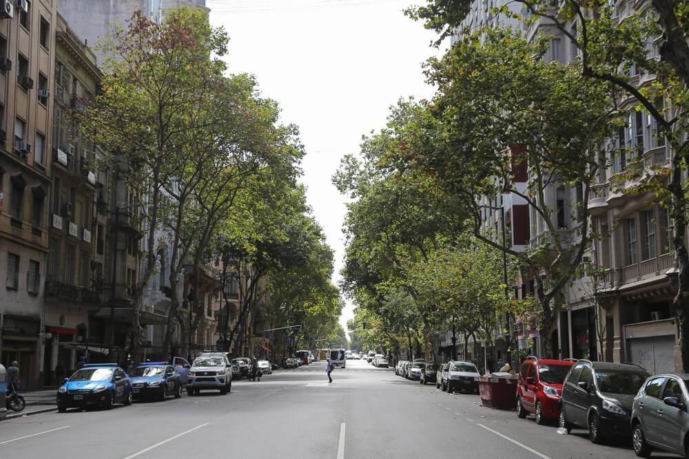 The historic street in Buenos Aires, avenida de mayo