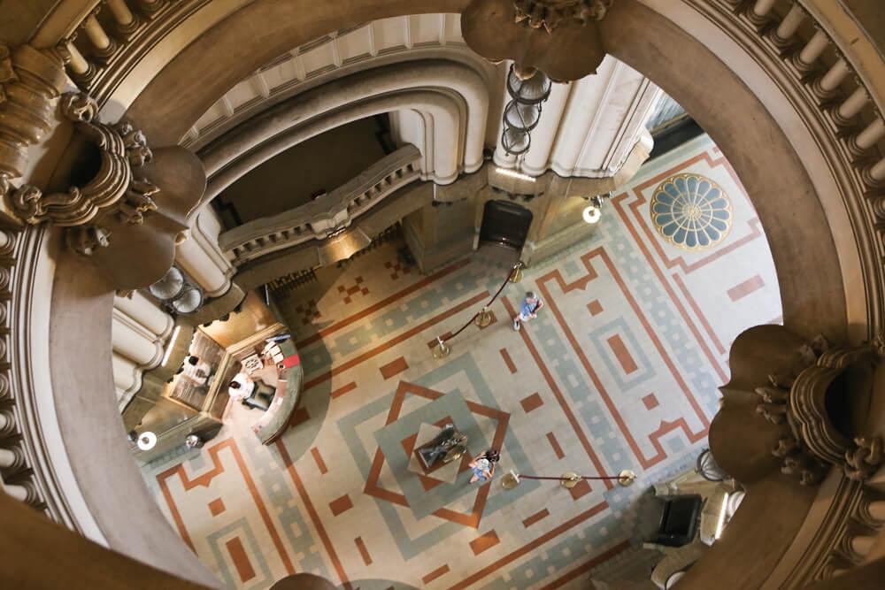 inside Palacio Barolo in Buenos Aires