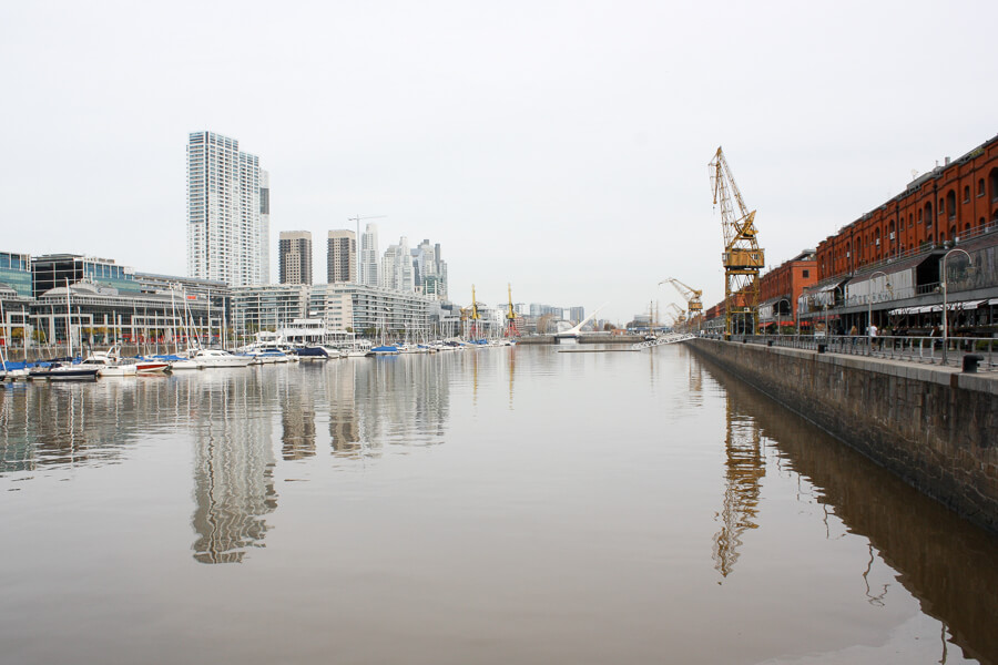The modern neighborhood of Puerto Madero in Buenos Aires