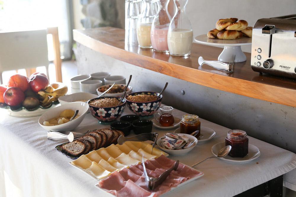 Breakfast buffet at Finca la Azul Uco Valley