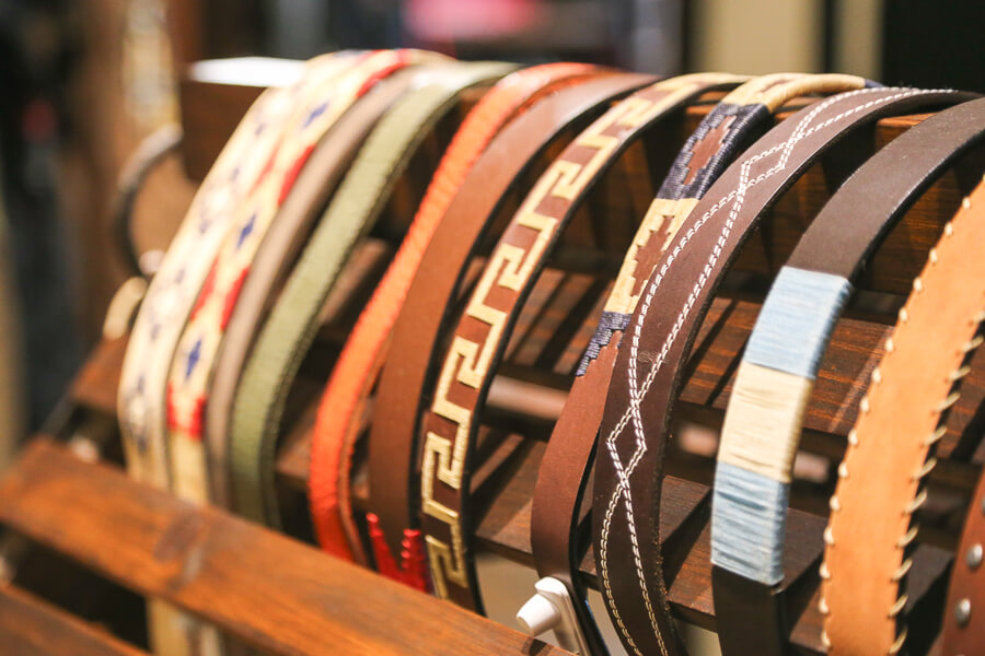 Leather belts in Buenos Aires