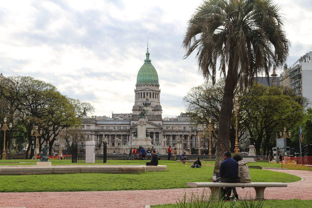 The Congressional Palace in Buenos Aires