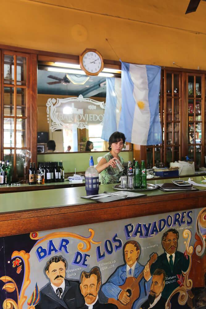 Historic bar in Mataderos Market Buenos Aires