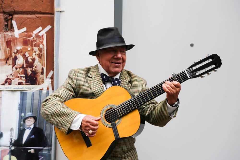 Tango music in san telmo