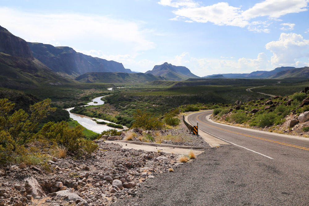 The River Road in west texas