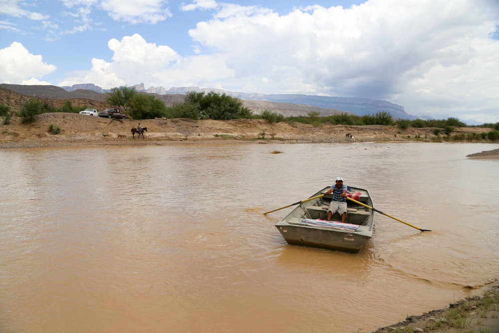 The ferry to Boquillas del Carmen from Big Bend