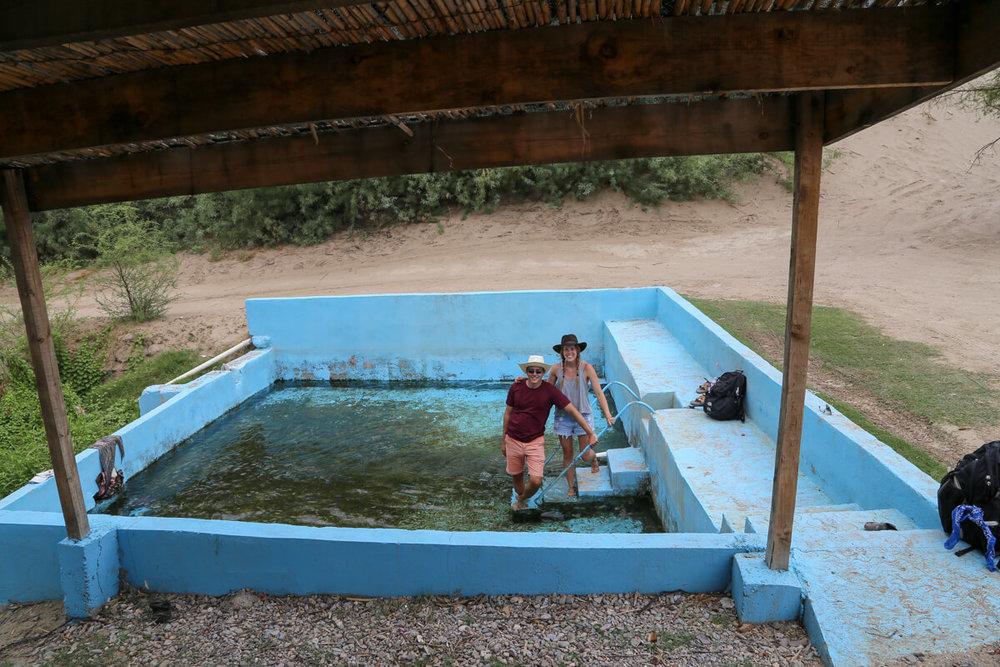 Hot springs in Boquillas del Carmen